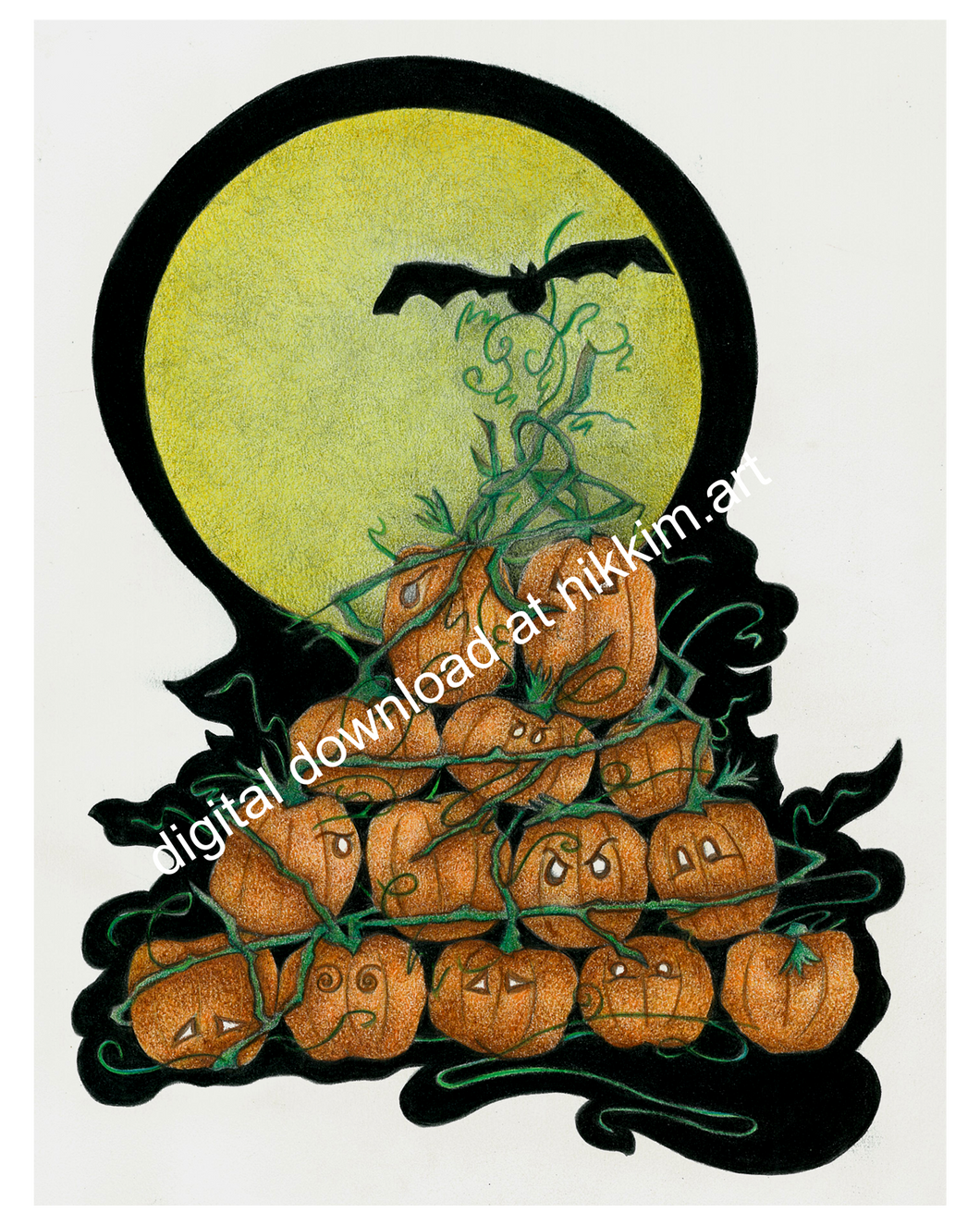 Pumpkin Tree Digital Download