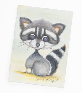 Brush Babies Pencil Pals Baby Raccoon Colored Pencil
