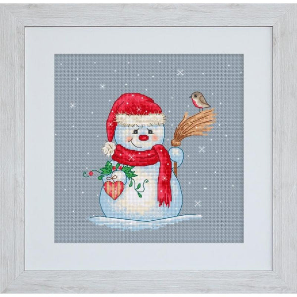 Counted Cross Stitch Kit Christmas pigs Luca-S DIY Unprinted canvas