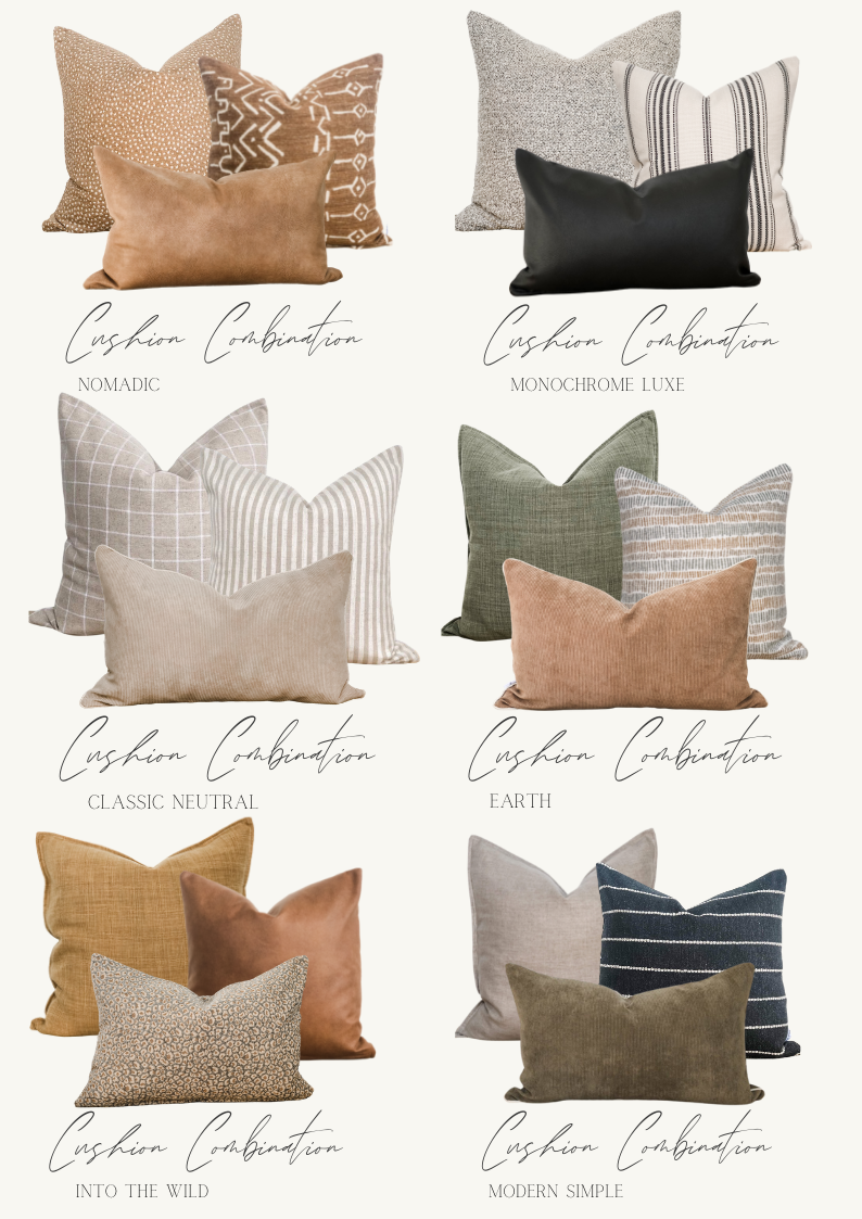 Handmade styled cushion packages