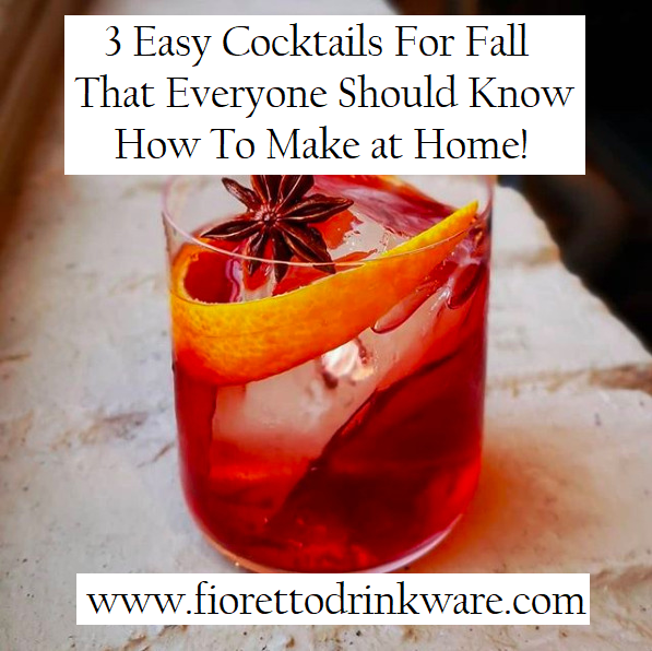 3 Easy Cocktails For Fall That Everyone Should Know How To Make At Home! 3 Ingredients Or Less!