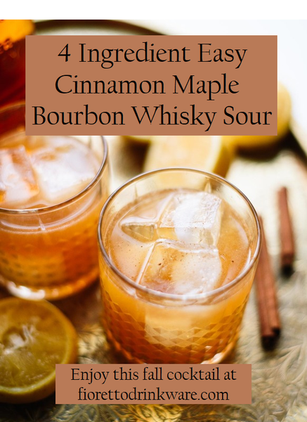 The Best Easy Fall Bourbon Cocktail Recipe: 4 Ingredient Cinnamon Maple Bourbon Whiskey Sour