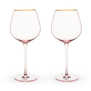 Rose Crystal Glass Set