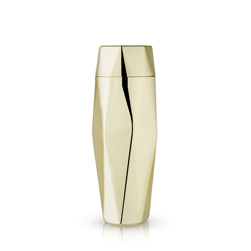 Geometric Gold Cocktail Shaker