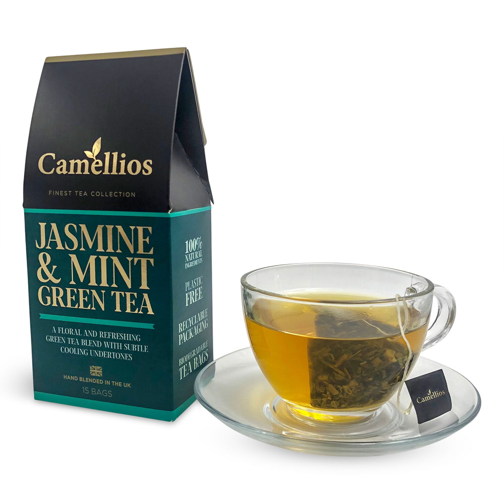 Load image into Gallery viewer, Jasmine & Mint Green Tea