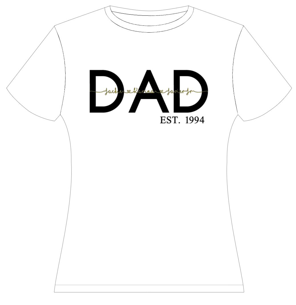 Personalized Dad Shirt with Kid's names