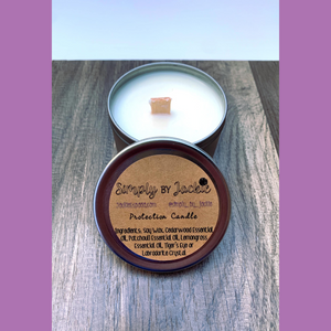 Herb or Crystal Infused Soy Candles