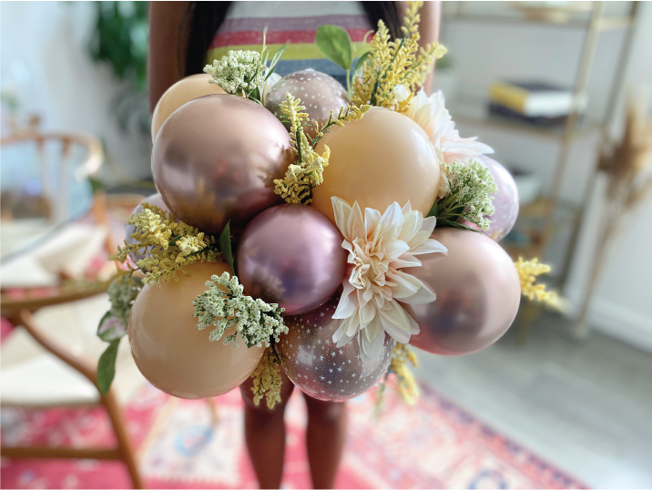 Organic Floral Balloon Arrangements