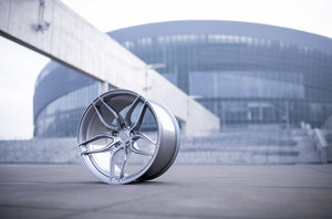 CONCAVER WHEELS - CVR3 BRUSHED TITANIUM 20 ZOLL