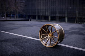 CONCAVER WHEELS - CVR4 BRUSHED BRONZE 22 ZOLL