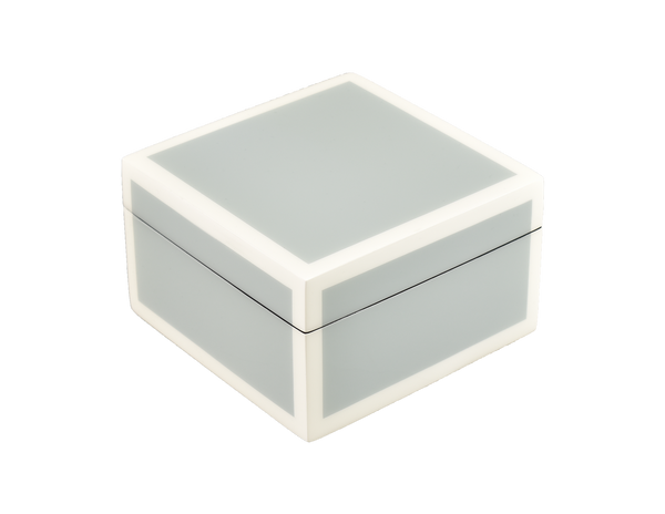 Cool Gray And White - Square Box - L-31FSCGW
