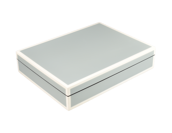 Cool Gray And White - Stationery Box - L-45FSCGW