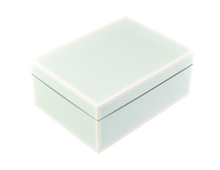 Duck Egg Blue with White- Medium Box
