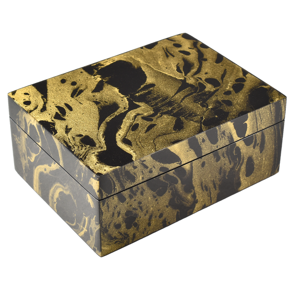 Black Gold Marble - Medium Box - L-21BGM