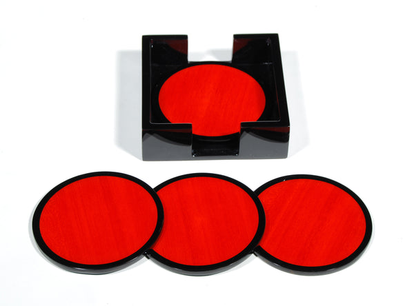 Round Coasters - Red Tulipwood - L-26RDRT