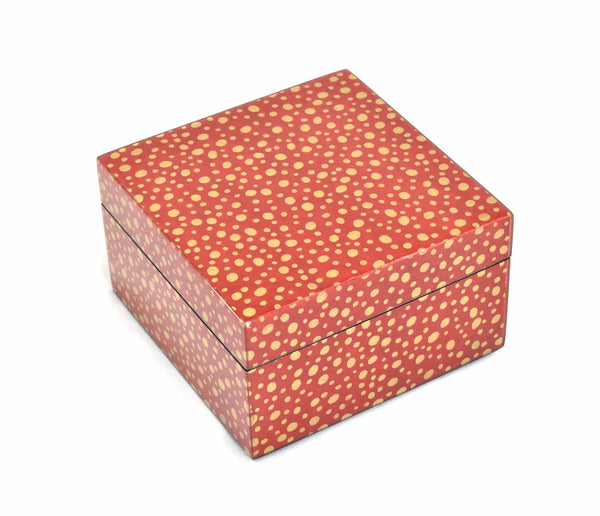 Red Gold Dots - Square Box - L-31RGD