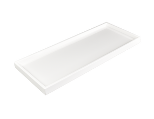 All White Long Vanity Tray