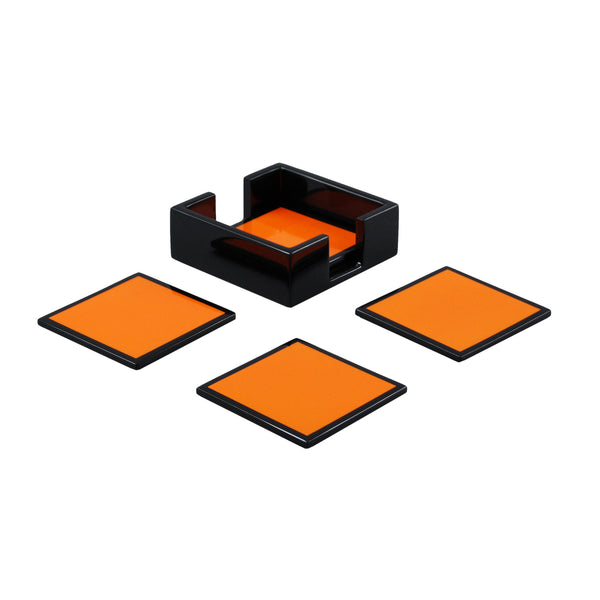 Orange And Black Coasters