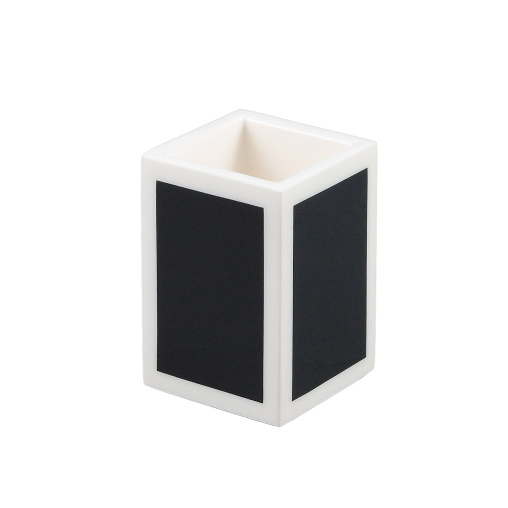 Black And White Pencil Cup/Brush Holder