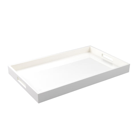 All White Breakfast Tray