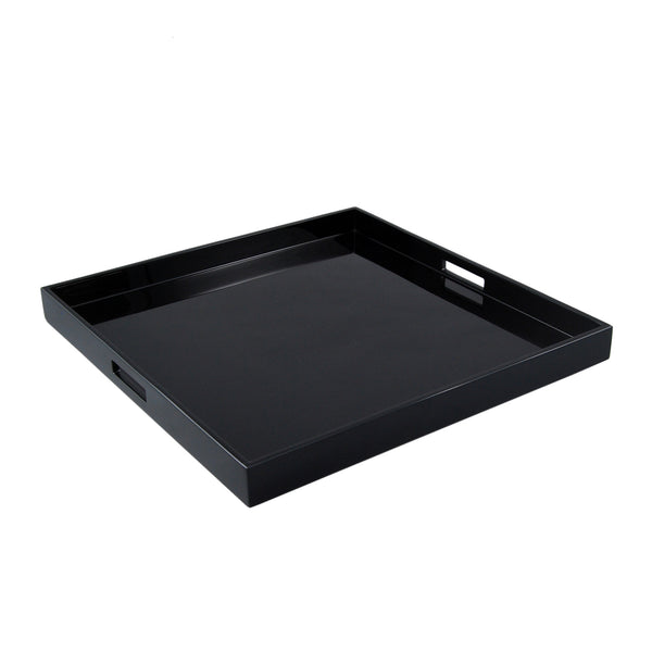 All Black Large Square Serving Tray