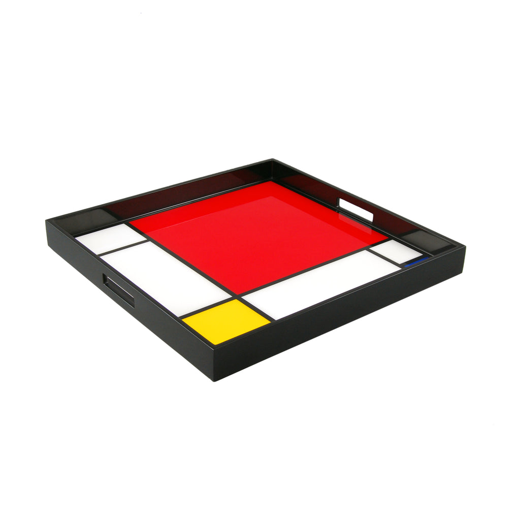 Mondrian Inspired Large Square Serving Tray