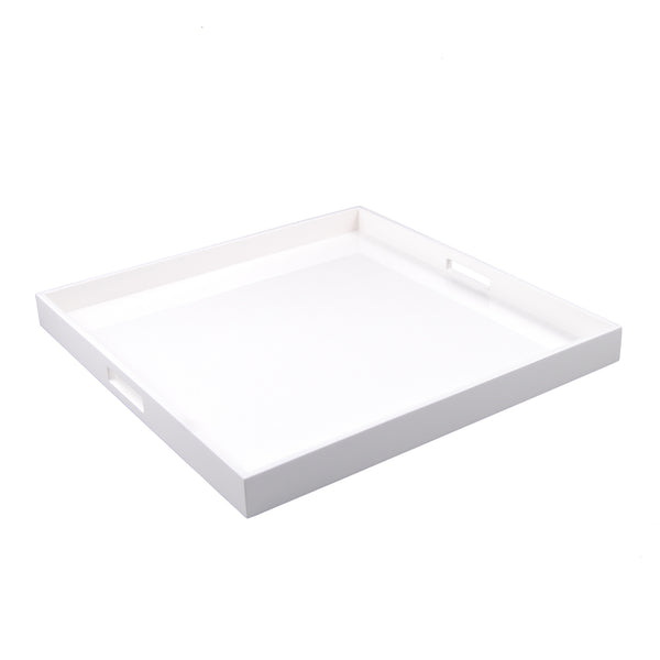 All White Large Square Serving Tray