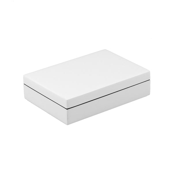 All White Playing Card Box