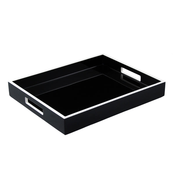 Black and White Trim Reiko Tray