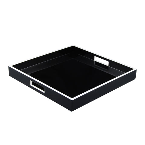 Black and White Square Serving Tray