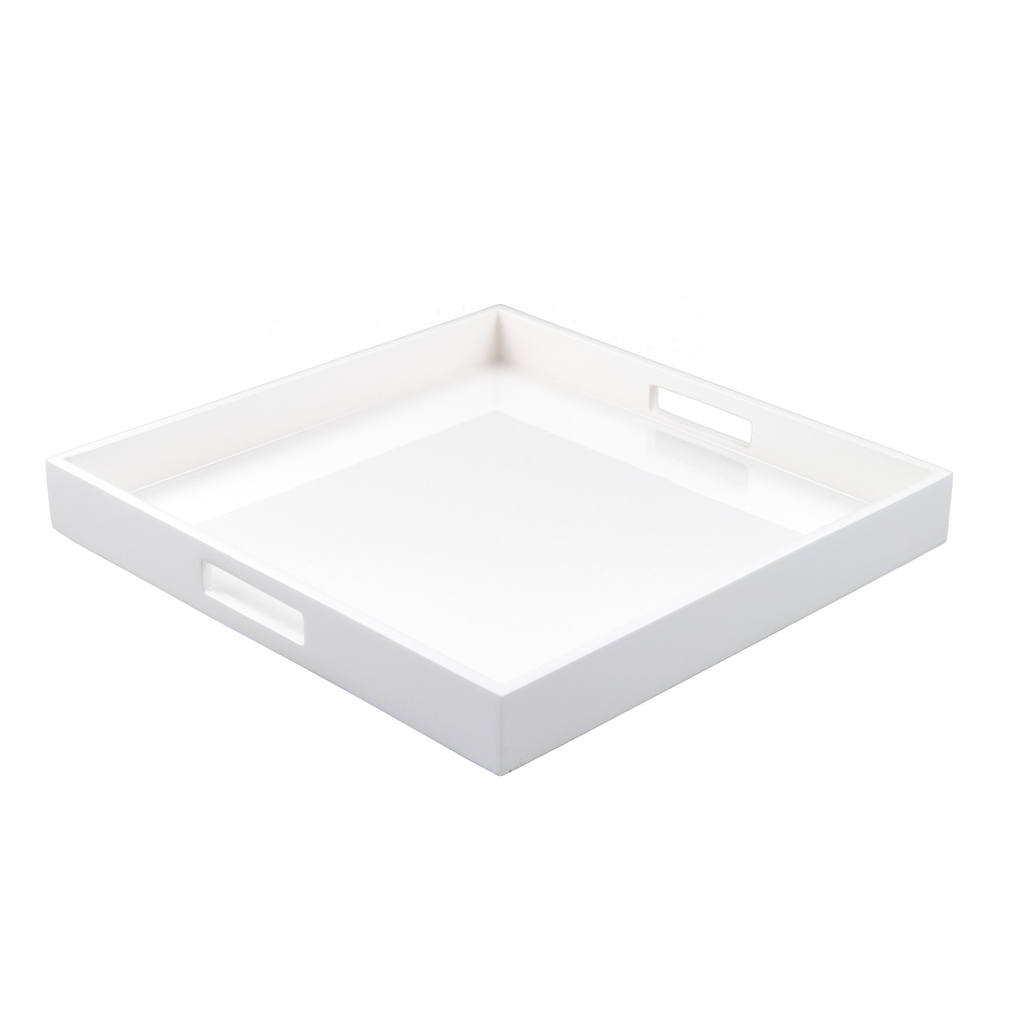 All White Square Serving Tray