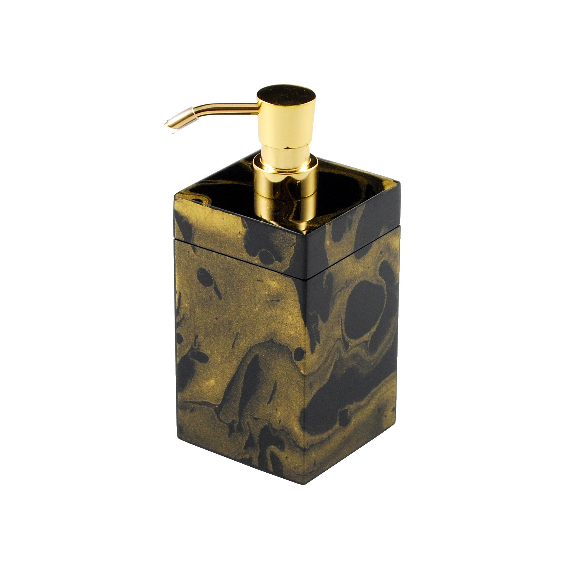Black Gold Marble Lotion Pump