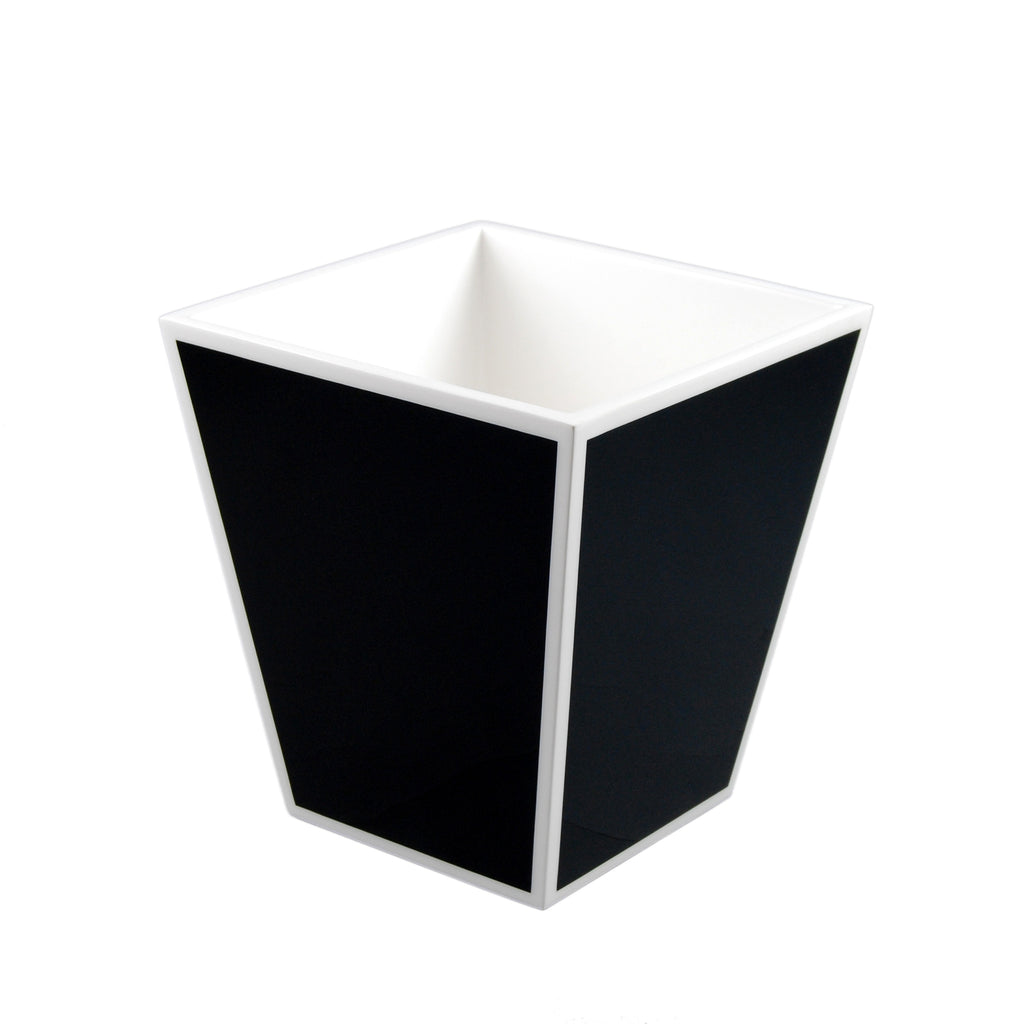 Black And White Waste Basket
