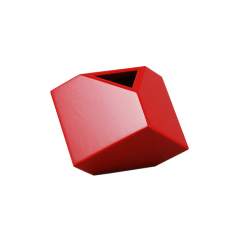 "All Red 5"" SQ Vase"
