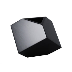 "All Black 7"" SQ Vase"