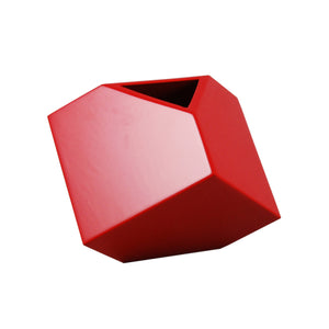 "All Red 7"" SQ Vase"