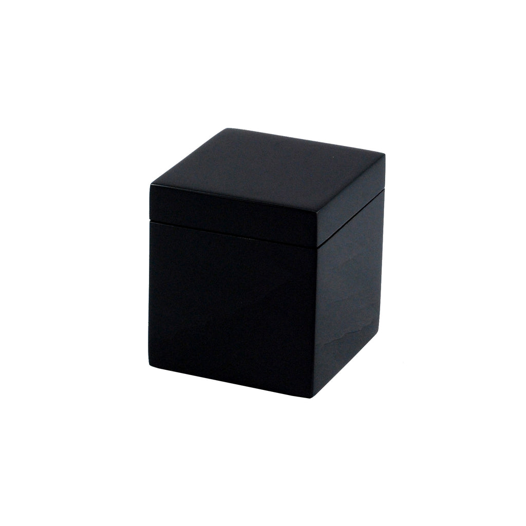 All Black Q Tip Box
