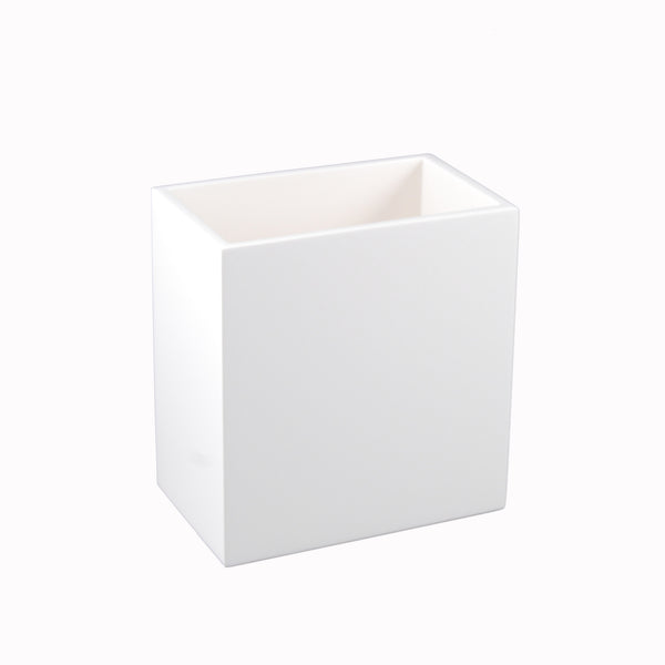 All White Rectangular Waste Basket