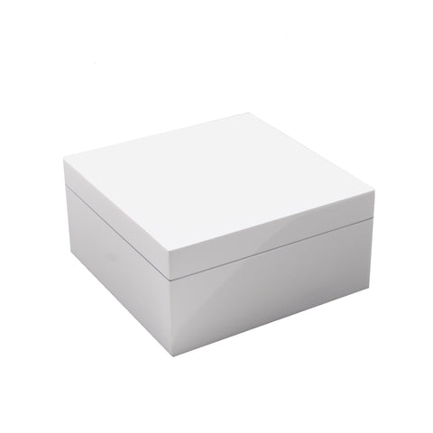 All White Square Hinged Box
