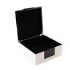 White And Black Square Hinged Box