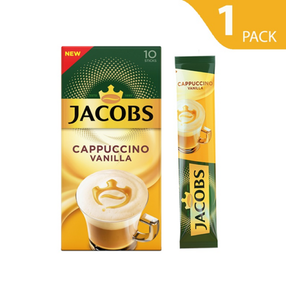 Jacobs Instant Coffee Vanilla Cappuccino 10 sticks (10 drinks)