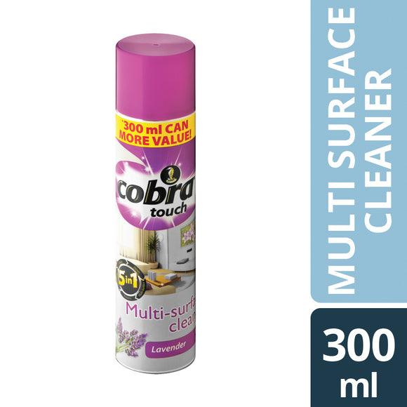 Cobra Touch Multi Surface Cleaner Lavender 300ml Case of 12