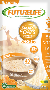 Futurelife Smart Oats and Ancient Grains Honey 10 x 50g Case of 6