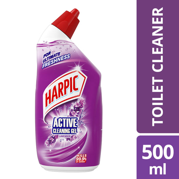 Harpic Active Cleaning Gel Lavender 500ml Shrink of 6