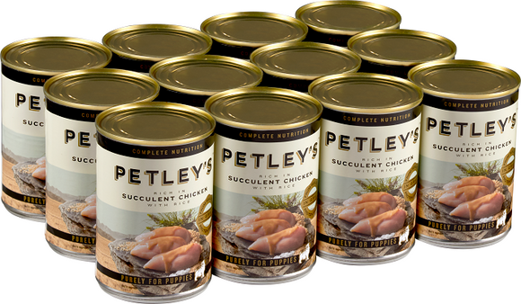 Petleys Puppy Chicken in Rice 385g Pack of 12