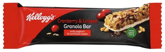 Kelloggs Cranberry and Linseed Granola Bar Pack of 12