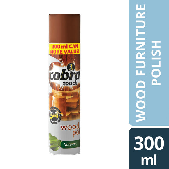 Cobra Touch Wood Polish Naturals 300ml Case of 12
