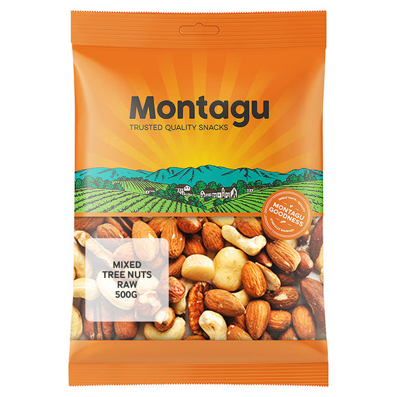 Montagu Mixed Nuts Raw 500g Pack of 6