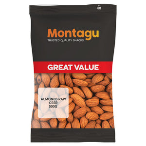 Montagu Almonds Raw CSSR 500g Pack of 6