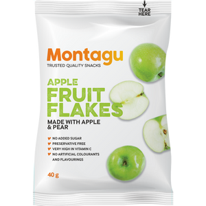 Montagu Fruit Flakes Apple 40g Pack of 10